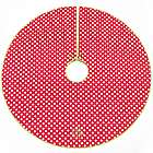 Personalized Red Dot Christmas Tree Skirt