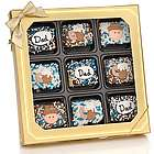 Father's Chocolate Dipped Mini Crispy Rice Bars Gift Box