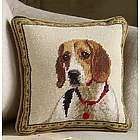 Beagle Needlepoint Pillow