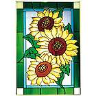 Sunflowers Stained Glass Panel