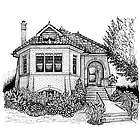 Classic Hand Inked Home Portrait