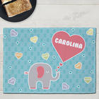 Elephant Love Personalized Kids Placemat