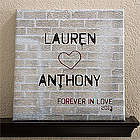 Personalized Canvas Graffiti Love Wall Art
