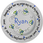Blue Bee Personalized Prayer Plate