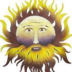 Bearded Sun Steel Wall Sculpture