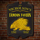The Porcupine Famous Tavern Personalized Wooden Sign