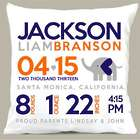 Personalized Birth Announcement Elephant Heart Pillow