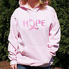 Personalized Breast Cancer Hope Awareness Hooded Sweatshirt