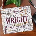Family Word-Art Personalized Mousepad