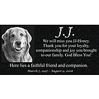 Personalized Granite Pet Memorial with Photo