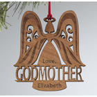 Personalized Godparent Angel Ornament