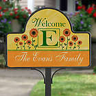 Personalized Summer Sunflowers Yard Stake with Magnet
