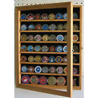 Coin Display Case Wall Cabinet