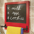 Kitchen Towel Holder and Chalkboard