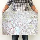 Hometown Map Personalized Kitchen Towel