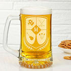 My Crest Personalized Initial Beer Mug