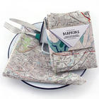 Hometown Map Personalized Kitchen Napkins