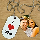 I Love Photo Dog Tags