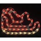 Lighted Santas Sleigh Window Silhouette Decoration