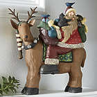 Santa and Reindeer Figurine