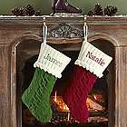 Personalized Cable Knit Stocking