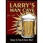 Personalized Man Cave Beer Wood Bar Sign