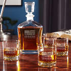 American Heroes Personalized Whiskey Decanter Set with Glasses
