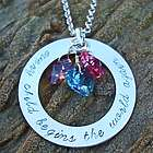 """Every Child Begins the World Again"" Hand Stamped Necklace"
