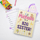 Personalized Big Sister and Big Brother Kids Coloring Books