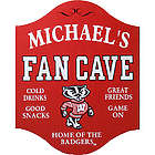 Personalized Wisconsin Badgers Fan Cave Sign