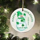 Personalized Irish Lucky Snowman Ornament