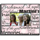 Personalized Black on Pink Bridesmaid Picture Frame