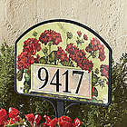 Geranium Basket Yard Address Sign