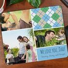 Personalized Dad Photo Collage Mouse Pad
