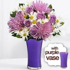 Lavish Lavender Bouquet with Purple Vase