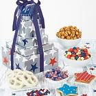 Patriotic Snacks and Sweets 5-Tier Gift Tower