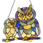 Owl Family Window Panel