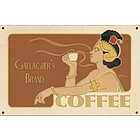 Personalized Vintage Coffee Ad Sign