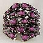 Jeweled Hinged Metal Claw Bracelet