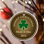 Personalized Irish Stout Shamrock Ornament