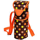 Polka Dot Single Wine Bottle Tote