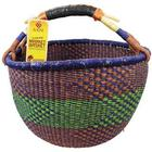 Handwoven Savanna Grass African Market Basket