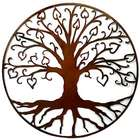 Tree of Life with Hearts Outdoor Metal Sculpture