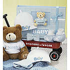 Hello Baby Welcome Wagon with Bear and Baby Book