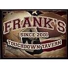 Personalized Football Touchdown Tavern Wood Bar Sign