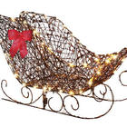 Starry Night Grapevine Sleigh Decor