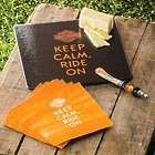 Keep Calm & Ride On Harley Davidson Cheeseboard Gift Set