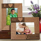 Our Loving Hearts Personalized Wood Frame