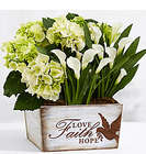 White Flowering Market Garden Planter