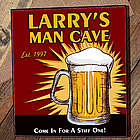 Personalized Man Cave Beer Cherry Wood Cigar Humidor